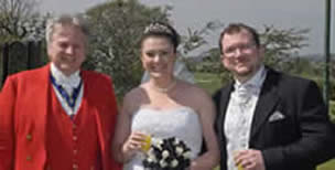 Wedding Toastmaster Bride and Bridegroom ( groom )
