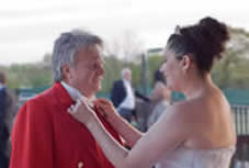 Richard Palmer Toastmaster With Bride in Essex