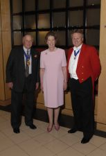 Essex Toastmaster Richard Palmer with the Chairman of Essex County Council, County Councillor Anthony Peel with his good lady wife Julia Peel
