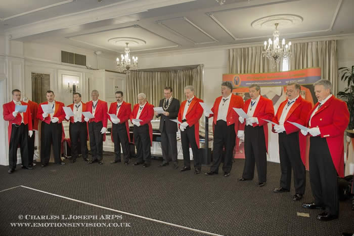 The English Toastmasters Association Choir at our St. Georges Day meeting and Luncheon