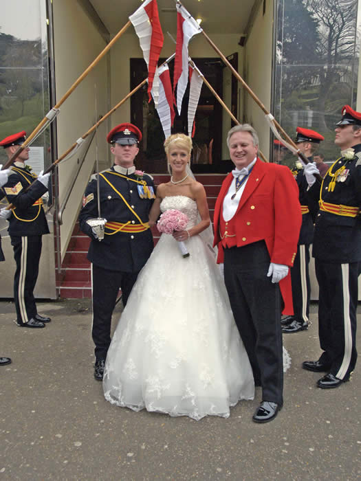 Essex Wedding Toastmaster at Southend on Sea Casino with the Queen's Royal Lancers