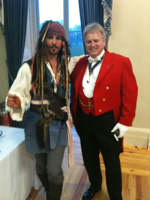 "Essex wedding toastmaster with a star, could it be ""Captain Jack Sparrow?"""