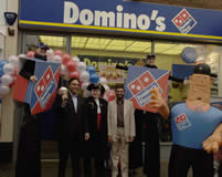 Town Crier Richard Plamer at Domino's Pizza Luton Bedfordshire