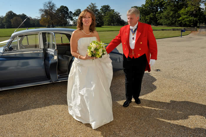 Essex Wedding Toastmaster with Bride at Hylands House