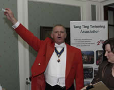 Jude Garland Toastmaster and member of the English Toastmasters Association calling the raffle winners