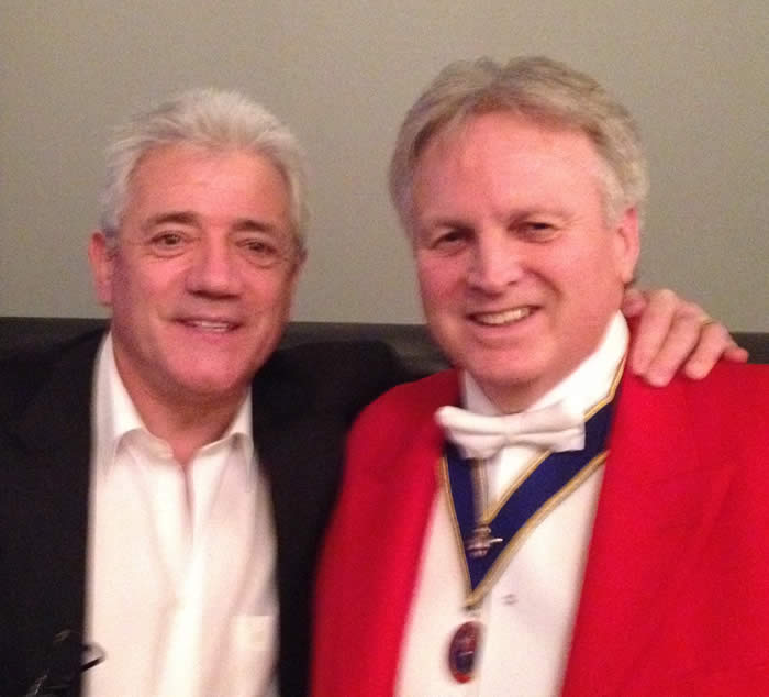 Kevin Keegan with Richard Palmer at The Grand Connaught Rooms