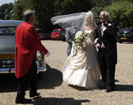 Layer Marney Tower Toastmaster at the arrival of the Bride and Father in Essex
