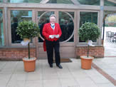 Essex toastmaster Richard Palmer at Gaynes Park, Essex