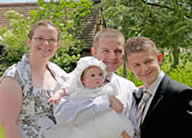 Baby naming ceremony with Essex toastmaster Richard Palmer as the celebrant