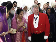 Punjabi Sikh Wedding Toastmaster at a milni ceremony