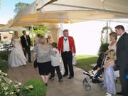 Richard Palmer Toastmaster in Essex Pontlands Park at Wedding Receiving Line