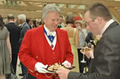 Toastmaster Richard Palmer with bridegroom