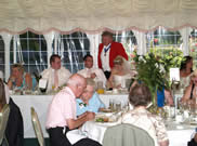 Essex Wedding Toastmaster Richard Palmer at wedding breakfast at Pontlands Park wedding