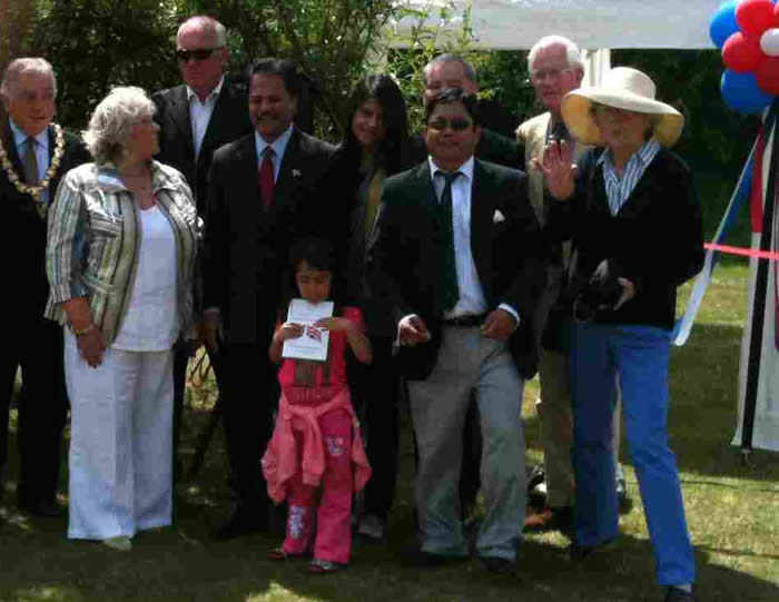 The Tang Ting Twinning Association Fete at Wimbish with the Ambassidor of Nepal and The Band of the Brigade of Gurkhas