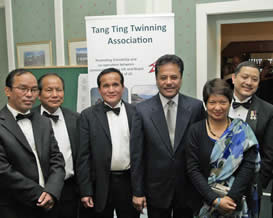 The Ambassador of Nepal with his wife and guests at the end of the evening