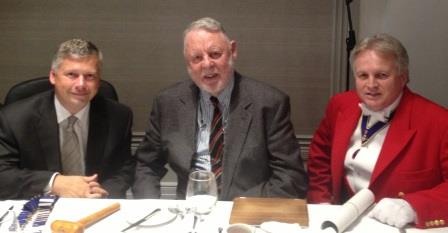 Terry Waite at The Grand Connaught Rooms with Ashley Nichols Chairman of The London Freight Club and Richard Palmer