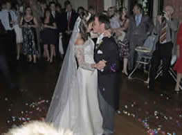 Bride and bridegroom first dance