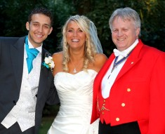 Deborah & Alex wedding at Creeksea Place with Essex toastmaster Richard Palmer