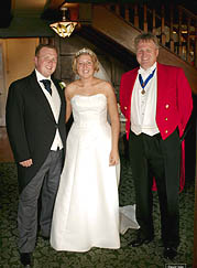 richard with bride and groom